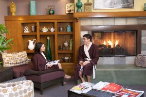 Spa at the Glen in Orange County/ Comfortable co-ed solarium for relaxing. Tea and spa snacks, or preorder lunch.